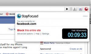 StayFocusd Chrome Anti-Procrastination Add-On
