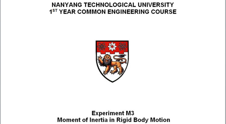 NTU Lab Report Sample Coverpage