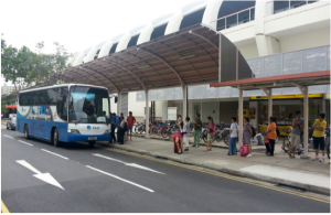 NTU Shuttle service Tampines Pickup Point